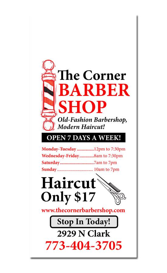 Salon Barber Door Hanger Samples - Free barbershop business plan template