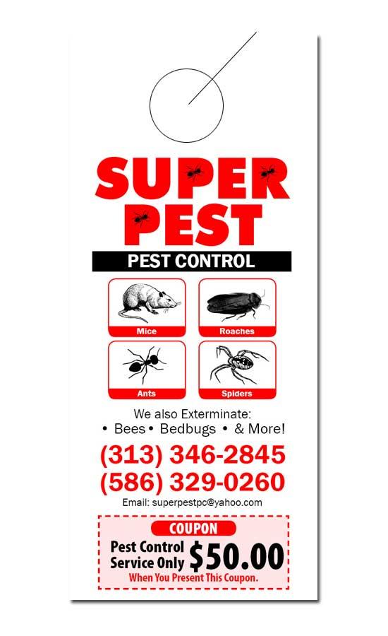 pest control door hanger samples