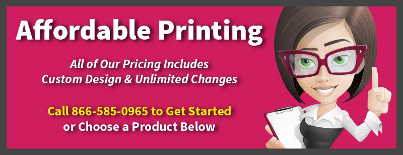 Affordable Printing, Custom Designed