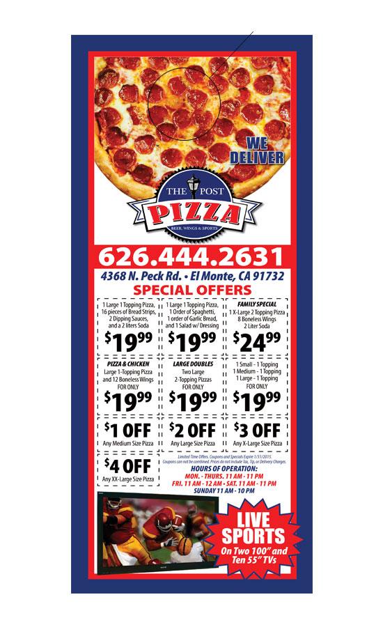 Pizza Door hanger Samples