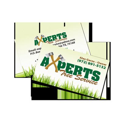 Tree Service Business Card Sample