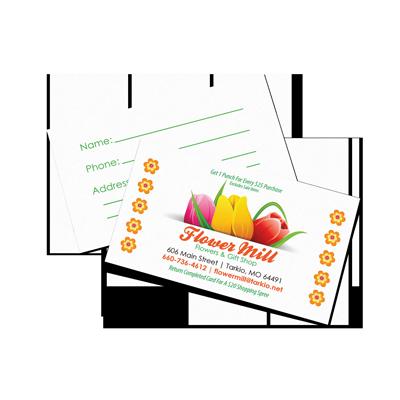 Florist Business Card Sample