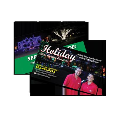 Christmas Lighting Business Card Sample