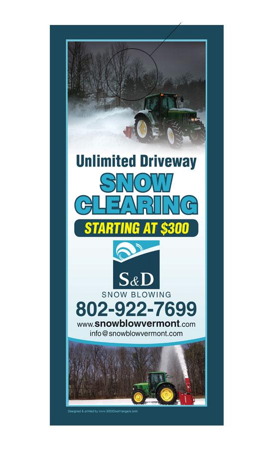 Snow plowing business cards best business 2017 snow plowing business cards snow plowing door hanger sles 3000doorhangers colourmoves Images