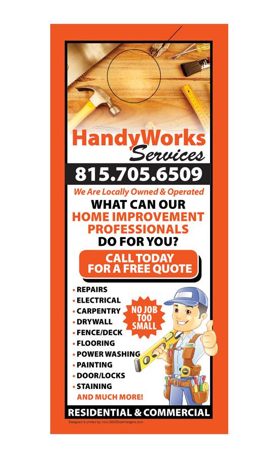 Handyman Door Hanger Samples