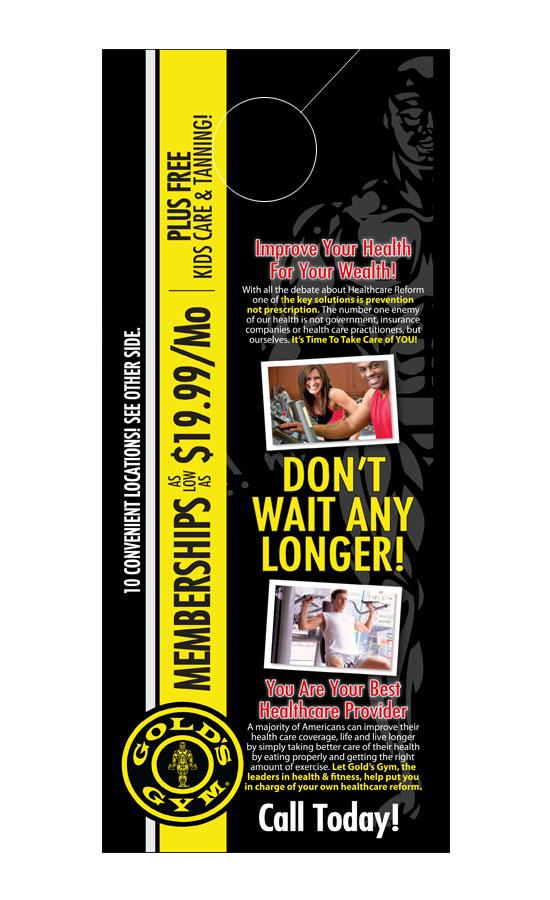 Health Fitness Door Hanger Samples – Healthcare Door Hanger